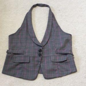 Jackets & Blazers - Grey halter vest